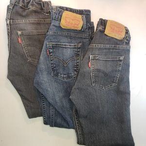 Lot of 3   LEVI'S Boy's Slim 511 Jeans   10R 25x25